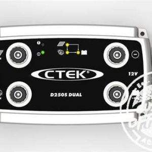 Front view of CTEK D250S, DUAL DC to DC Solar Battery Charger, 12V, Deep Cycle AGM