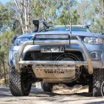 Mitsubishi Triton 4x4 driving with underbody protection from Custom Offroad Accessories