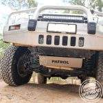 Nissan Patrol GU underbody whilst driving offroad
