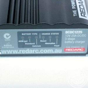 Close up of REDARC BCDC1225LV, Dual Battery Isolator System, DC to DC, MPPT Solar 4X4 4WD AGM