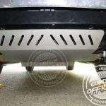 Isuzu MU-X bash plates installed