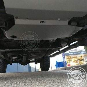 Nissan Navara underbody with bash plates fitted by Custom Offroad Accessories
