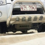 Nissan Navara D22 beach driving with bash plates