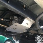Bash plate fitted to 4x4 underbody by Custom Offroad Accessories Triton ML MN Bash Plates
