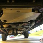 Custom Offroad Accessories bash plate fitted to 4WD underbody