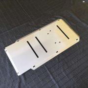 Diagonal shot of Mitsubishi Triton Ml Mn Bash Plate Transmission