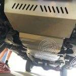 Mitsubishi Pajero Sport QE – Transmission Bash Plate Fitted Installed