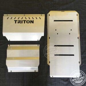 Mitsubishi Triton Ml Mn Bash Plate 3 piece set, vertical view