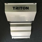Vertical view of Mitsubishi Triton MQ steel bash plate