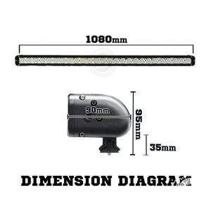 Dimension diagram of 42 inch LED light bar