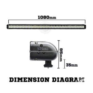 Dimension diagram of 42 inch LED light bar