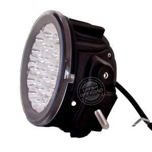 "Side view close up of 7"" 140 watt Led Driving lights Pair (140w x 2)"