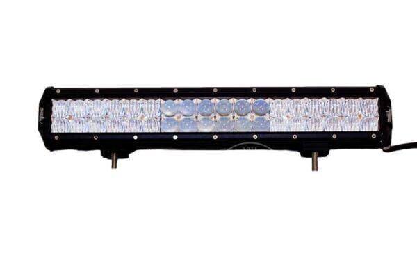 "Front view of 23"" Dual Row 4d Optics LED Light Bar - 144 Watt"