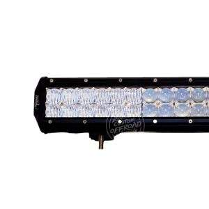 "Close up view of 23"" Dual Row 4d Optics LED Light Bar - 144 Watt"