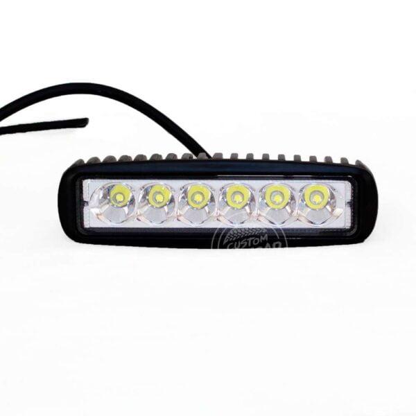 18 WATT LED Work Light Slim Black 1