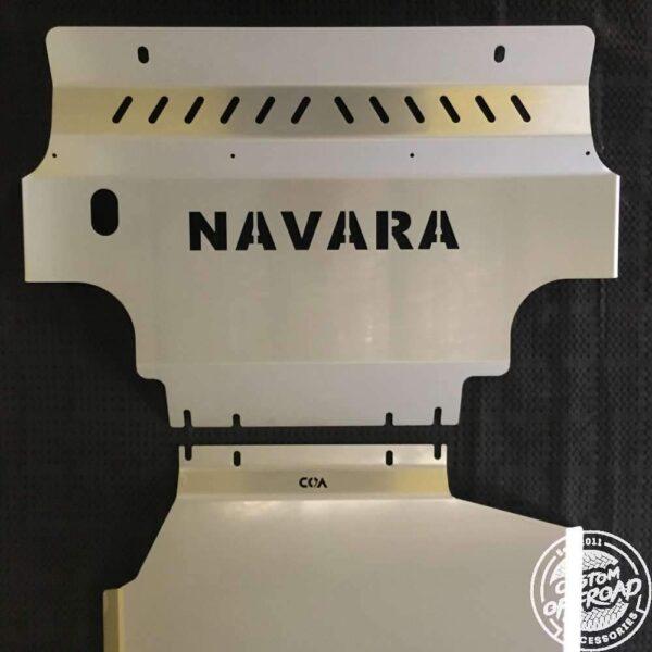 Nissan Navara D40 - 3 Piece Bash Plate Set 2005 - 2015 Thai & Spanish 1