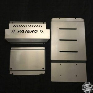 Mitsubishi Pajero NM to NX - Front, Diff/Sump and Transmission Bash Plates 1